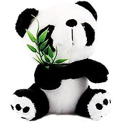 Yosoo 15 cm Cute Panda con bambú oso de panda de peluche Panda de peluche de animal oso panda de peluche Animal muñeca juguetes regalo Panda juguetes para niños