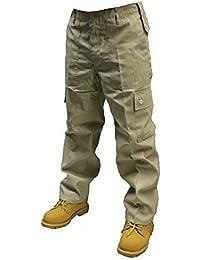 Adultes Uni Pantalon Combat couleur - Beige,taille -W40/L30