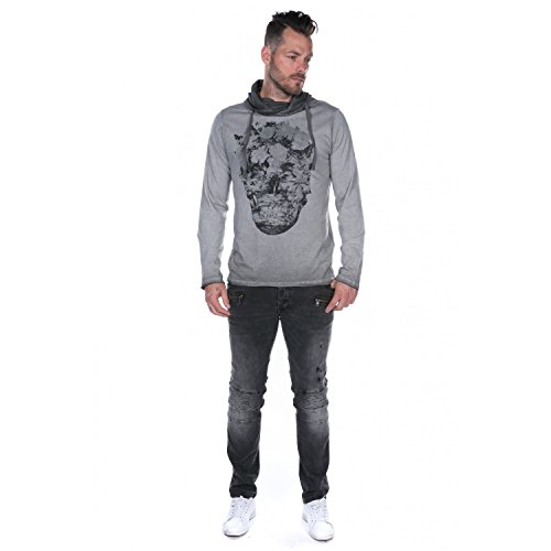 Deeluxe - Todie iron grey pull - Pull fin Gris clair