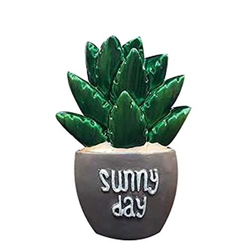 bismarckber Cute Cactus Deodorante per Auto Vent Clip Auto diffusore di fragranza Profumo Clip Decorazione, Resina, 5#, Taglia U