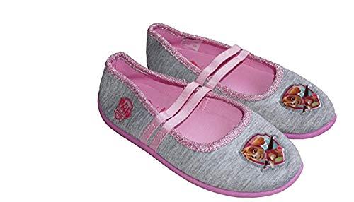 Nickelodeon Paw Patrol - Hausschuhe Laufschuhe für Mädchen - Ballerinas Slippers Paw Patrol - Pink oder Grau (28, Grau)