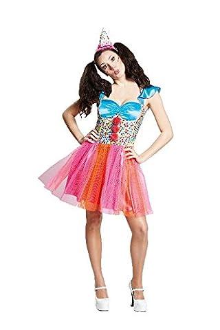 Damen Kostüm sexy Clown Clownkostüm zu Karneval Fasching Gr.40