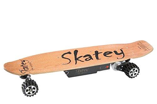 SKATEY 800W Wood OFFROAD Elektrisches Longboard elektrisches Skateboard