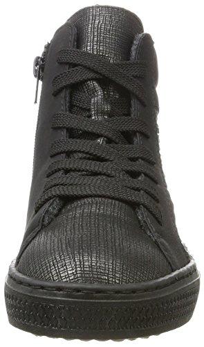 Rieker Damen L5948 Hohe Sneaker Grau (graphit/schwarz/anthrazit/altsilber)