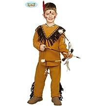 Guirca Costume vestito indiano america carnevale bambino 8279_ 5-6 anni