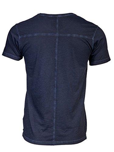TREVOR'S KENNY cold pigment dyed Herren T-Shirt mit Rundhalsausschnitt und Aufdruck aus 100% Bio-Baumwolle - soziale fair trade Kleidung, Mode vegan und nachhaltig Color midnight, Size M - 2