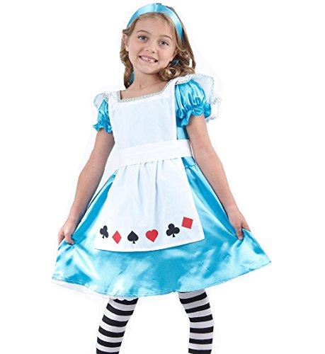 Costume Alice au pays des merveilles Filles Déguisement 4 à 12ans - bleu -