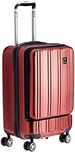 Swiss Military Polyester 45 liters Red Hard Shell Trolley Suitcase (HTL-7)