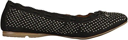 Tamaris 1-22122-38 femmes Ballerine Noir