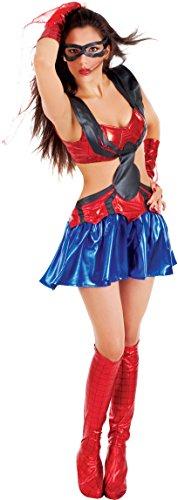 Carnevale Venizano CAV5133-L - Erwachsenenkostüm SPIDER LADY  - Größe: (Woman Kostüme Kinder Spider Für)