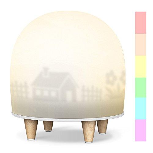 Leuchten für Kinder,Baby Nachtlampe Tischlampen Tapping Induktion Farbwechsel Stimmungslicht mit 256 Farbkombinationen und Warmweißes Licht in 2Helligkeitsstufen