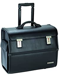 """Savebag -Pilot Case Roller Porte-Ordinateur 15""""6 noir - 18874/75 - Cap. 32 Litres"""