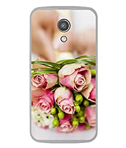 PrintVisa Designer Back Case Cover for Motorola Moto G2 :: Motorola Moto G (2nd Gen) (Beauty Petal Gift Bunch Bright Green Stem Backcover)