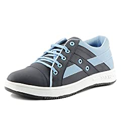 Golden Sparrow MenS Blue Fabric Synthetic Casual Shoe (Tm-P30-07)- 7 Uk
