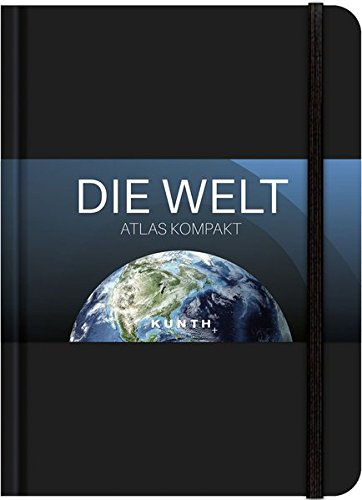 Taschenatlas Die Welt - Atlas kompakt, schwarz (KUNTH Taschenatlanten)