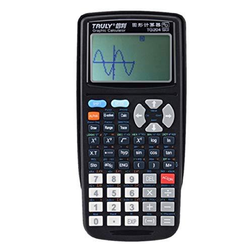 Wissenschaftlicher grafischer Taschenrechner, tragbarer Größen Schulgraphik Taschenrechner Wissenschaftlicher grafischer Rechner für Grafik unterrichtende Studenten, schwarz