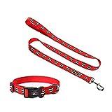 Dobbi Verstellbares Halsbänder Hundeleinen Hund Auto Gurt Elastisches Sicherheitsseil Hundehalsbänder Hundeführleine Dog Sicherheitsgeschirre Kragen Set Pet Outdoor Training Haustier Leine