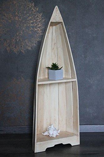 Naturesco Exotisches Bootsregal Regal Boot Holz natur 95cm