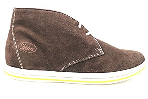 scarpe uomo ALBERTO GUARDIANI 41 polacchini T. moro camoscio AS842