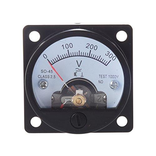 SODIAL (R) AC 0-300V Runde Analoge Einwahl Panel Meter Anzeigengeraet fuer Volt Schwarz - Ac Voltmeter