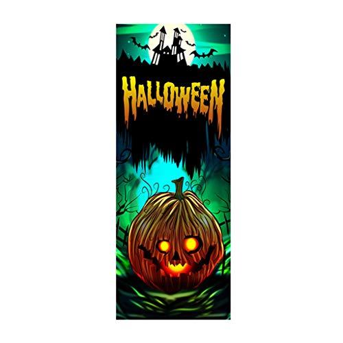 Wein Kostüm Inspirierte - Mitlfuny Halloween coustems Kürbis Hexe Cosplay Gast Ghost Schicke Party Halloween deko,Außenhandel Neue Halloween kreative lustige Tür Aufkleber Glas Fenster Aufkleber
