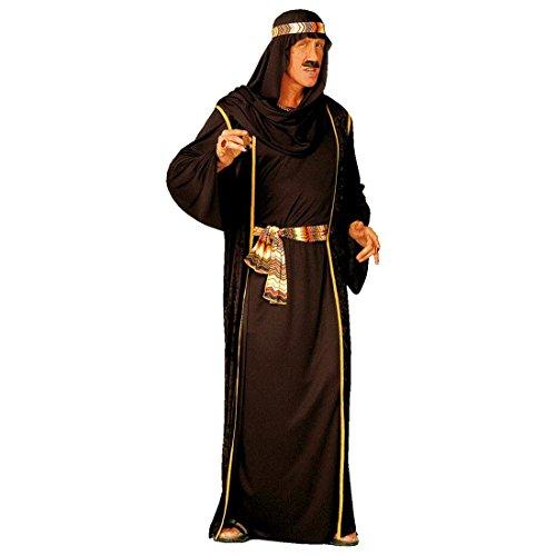 Scheich Kostüm Araber Scheichkostüm schwarz L (52) Orient Araberkostüm Herren Orientkostüm Sultan Faschingskostüm Kalif Ölscheich Tuareg Selim Arabisches Karnevalskostüm 1000 Nacht ()