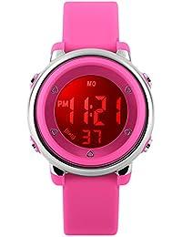 Niños Digital Relojes para las niñas regalos–5ATM impermeable deportes al aire libre reloj con 7retroiluminación LED/alarma/FECHA, electrónica reloj deportivo multifuncional para los adolescentes para niños por foruner