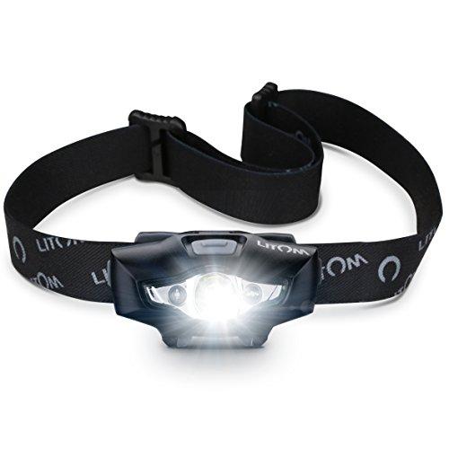 Litom Linterna Frontal (Tipo 2), Linterna cabeza, Linterna bicicleta,