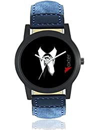 Freny Exim Casual Analog Newest Arrivals Latest Black Dial Blue Leather Belt Watches For Boys - Men Watches