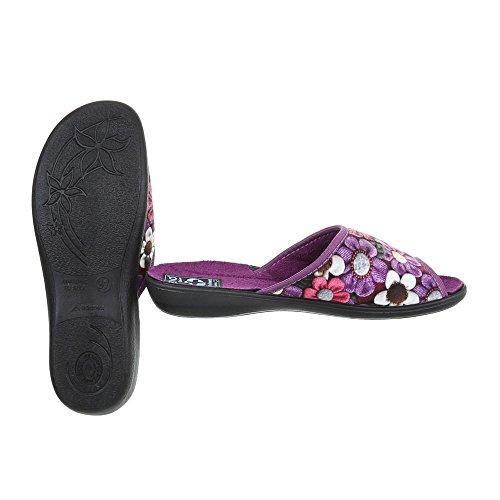 Pantofole Italiane Design Pantofole Da Donna Pistoni Scarpe Casual Viola Multi