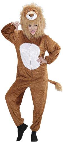 Kostüm Löwe Frauen - Widmann 9937A - Erwachsenenkostüm Löwe, Overall mit Maske, Größe M