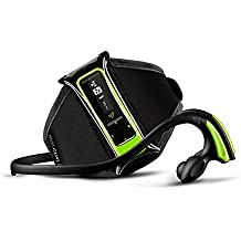 Energy System MP3 RUNNING, Reproductor MP3 de 8 GB, con podómetro, radio FM, brazalete deportivo, clip de sujeción, Verde Neón