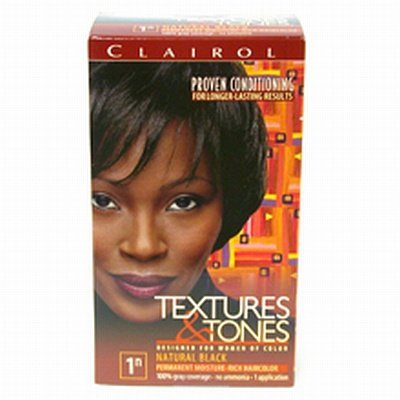 Clairol Text & Tone #1N Natural Black Kit by Clairol