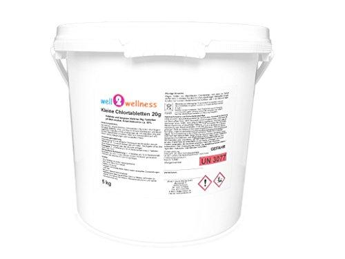 well2wellness Kleine Chlortabletten 20g - langsam löslich + 90% Aktivchlor, 5,0 kg Kleine Tabs