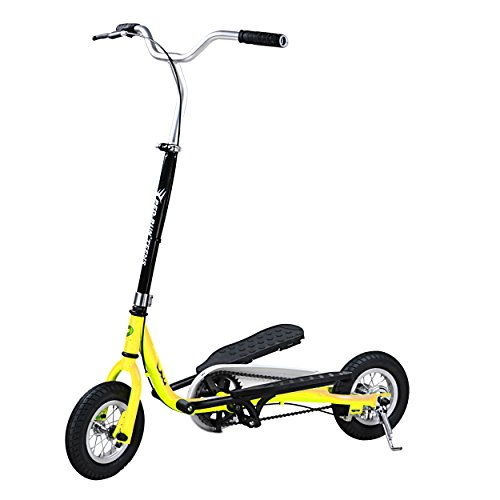 ped-run-teens-pedaling-scooter-yellow