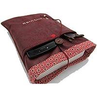 Protège livre fait main à personnaliser, housse protection livre 3 formats (poche/broché/littéraire), étui livre en tissus simili cuir, cadeaux, voyage, noël, anniversaire, cadeaux personnalisés