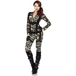 Leg Avenue Paratrooper Adult Sized Costumes, Noir, S Femme