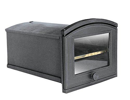 Back Tube Back Boîte Four Four à pizza four four à pain bois Four Pierre Poêle en fonte avec compartiment amovible et four Disque | Dimensions extérieures: 320x 240mm-öffnungsrichtung: Gauche