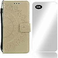 f9fe8483b7d Bear Village® Funda para Samsung Galaxy S5 Mini, Gofrado de Flor Cuero Funda  con