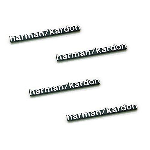 benzee 4Stück b095-s Harman Kardon Auto Emblem Aufkleber Aufkleber Logo Hi-Fi-Lautsprecherkabel selbstklebend Metall Aluminium