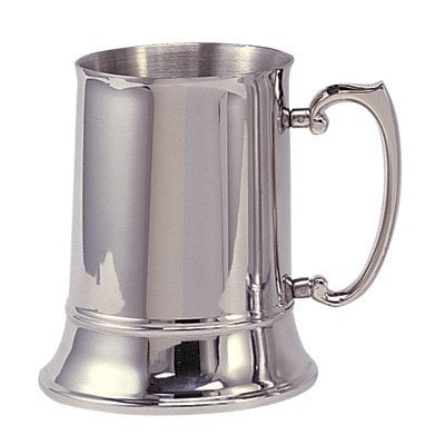 (Stainless Steel Beer Mug 16 oz by Awards and Gifts R Us)
