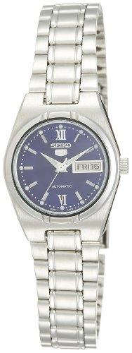 Seiko Damen-Armbanduhr 5 Lady Analog Automatik Grau - Automatik 5 Damen Uhr Seiko