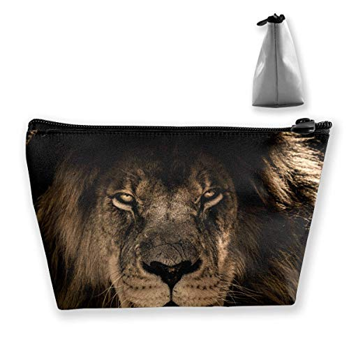 Pencil Case African Lion Mane Close Eyes Pouch Portable Cosmetic Handbag Coin Purse Travel Toiletry Beach Wash Bag