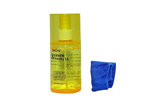 SeCro™ Screen Cleaner Kit 200ml- Best for LED & LCD TV, Mobile, Computer Monitor, Laptop, and iPad Screens - Includes Premium microfiber Cloth (Yellow (1 Pack))  available at amazon for Rs.99