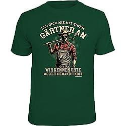 RAHMENLOS Original T-Shirt für den Gartenliebhaber: Leg' Dich Nicht mit Einem Gärtner an… XXL, Nr.6239