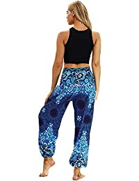 Yoga Capris Femmes, Hommes Femmes Casual Lâche Hippy Yoga Pantalon Baggy  Boho Aladdin Harem Pantalon f7d52fe5c37