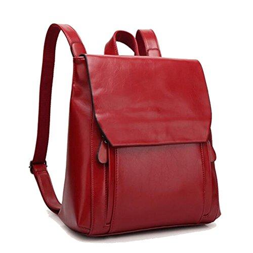Damen Retro Rucksack Leder Rucksack Damen Vintage Umhängetasche Reißverschluss Schultertasche Backpack Tasche Reisen Für iPhone, iPad und Samsung Tablet