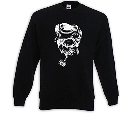 Rockabilly Pull Brando Skull Matrose Captain Pipe Schiff Seemann Noir
