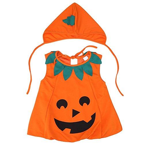 Powlance Halloween-Kostüm Kinder Kürbis Outfit Kleidung Cosplay dressandhat