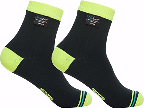 Dexshell Ultralite Waterproof Socks, Hi-Vis Yellow, Medium